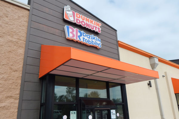 Commercial Awnings Morehead City NC Dunkin Donuts
