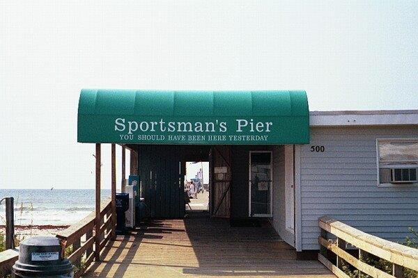 Commercial Awnings Sportman's Pier Atlantic Beach
